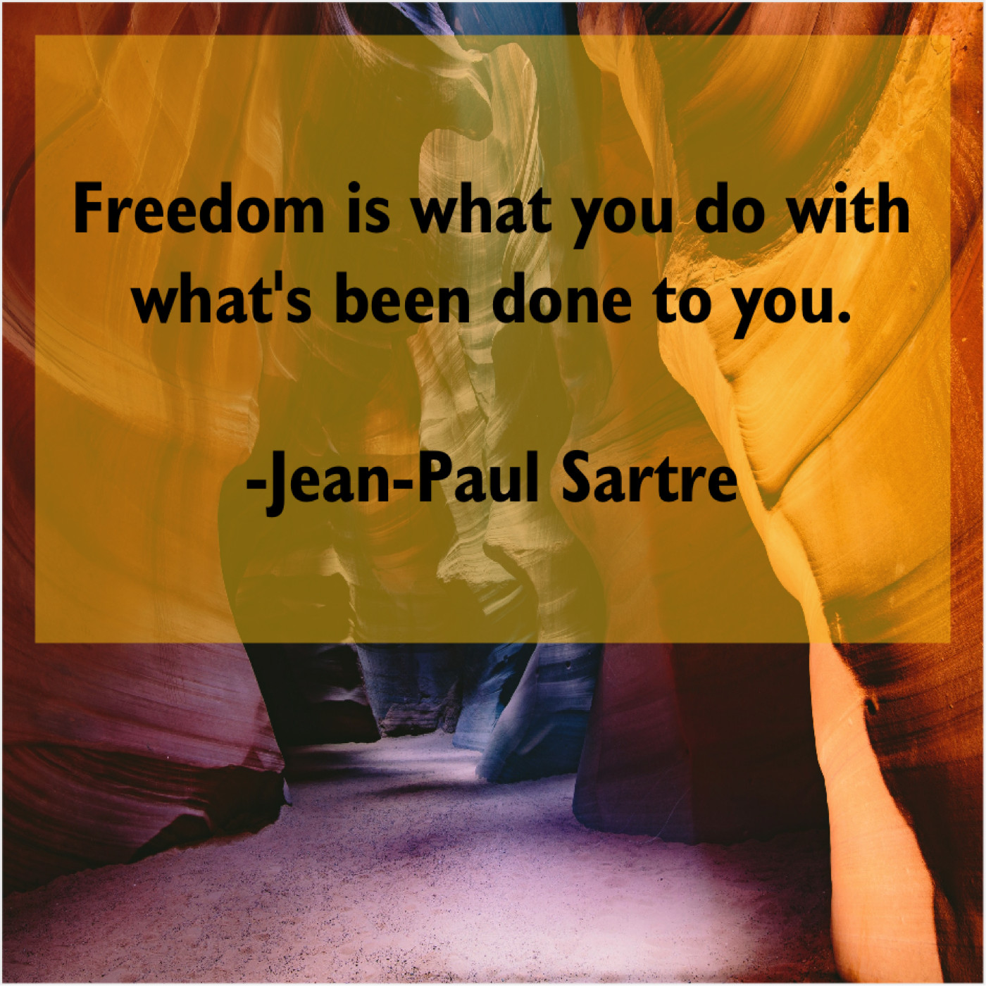 Jean-Paul Sartre - Freedom is what you do… - Shani's Blog